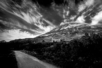 The Old Church Dunlewey B&W